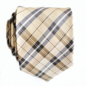 Firenze Italian All Silk Nova Check Style Tie